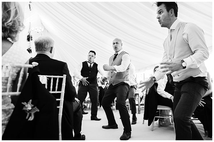 Crishall Cambridgeshire Village wedding haka
