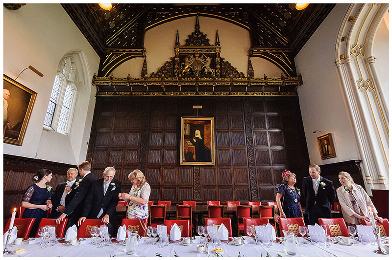 Head table St Johns College wedding reception