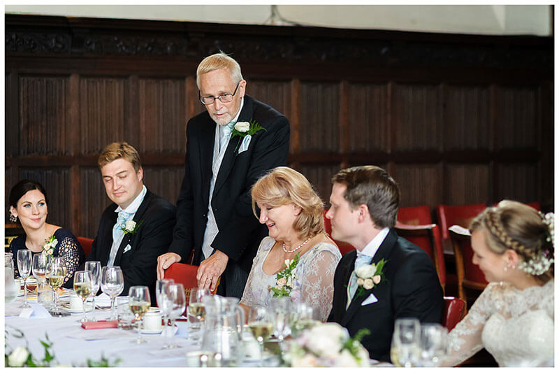 father of Grooms speech during wedding reception