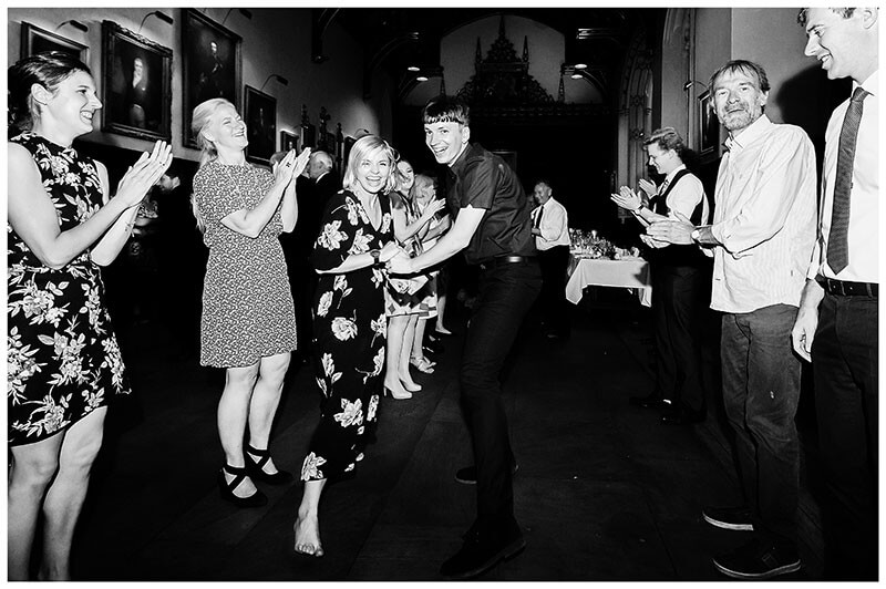 laughing wedding guests enjoy kayleigh dance
