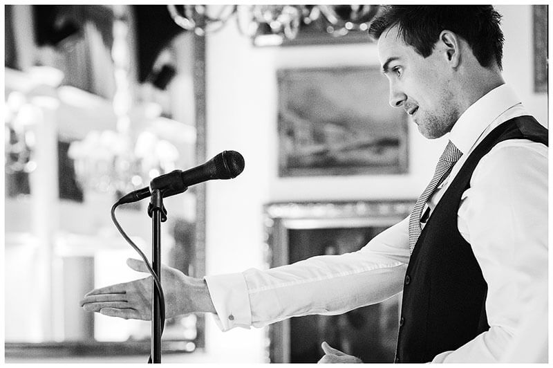 Bestman making a point during his speech