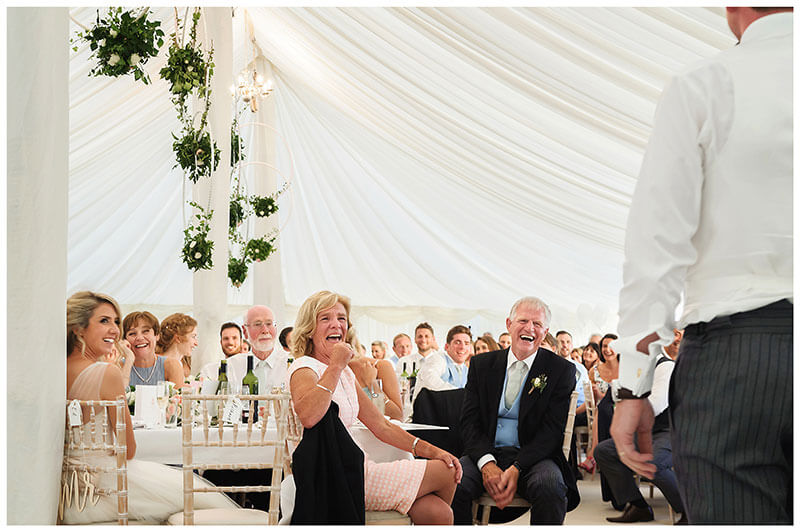laughing at grooms speech