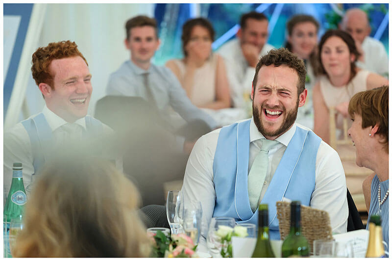 laughing at speeches