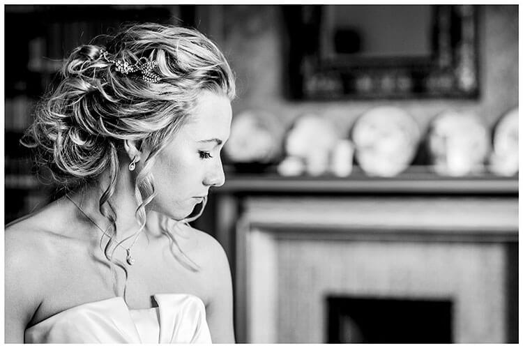 Bride Portrait in Bridal Suite at Kings College wedding