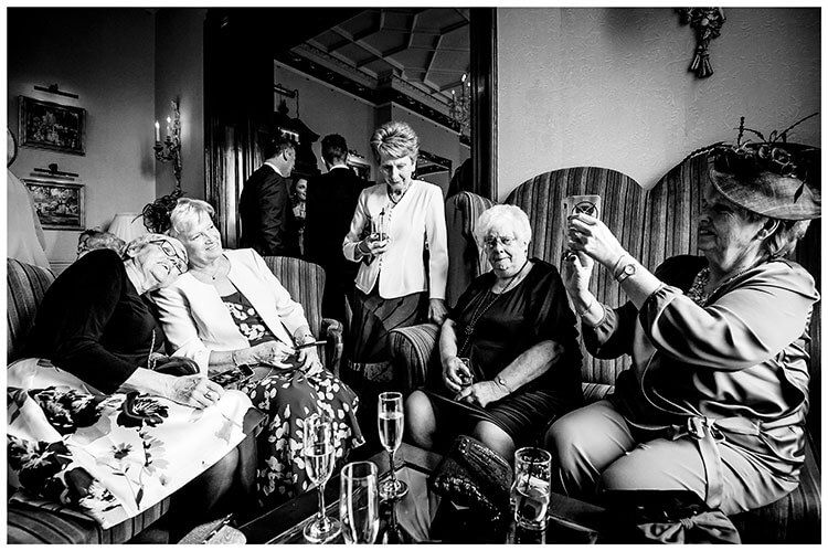 old ladies posing for a photo at Kilworth house wedding