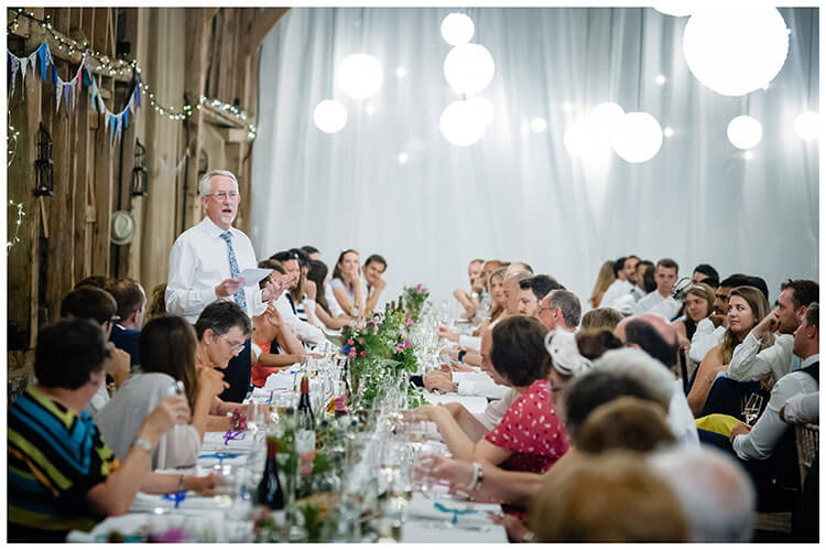 father of the brides speech Childerley Hall Cambridgeshire favourite wedding photography 2018