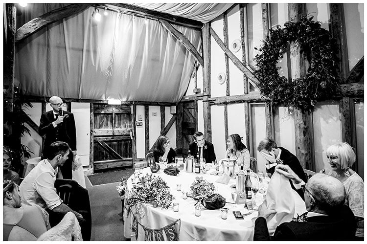groom places head in hands during bestmans speech at South Farm premier barn wedding venue favourite wedding photography 2018