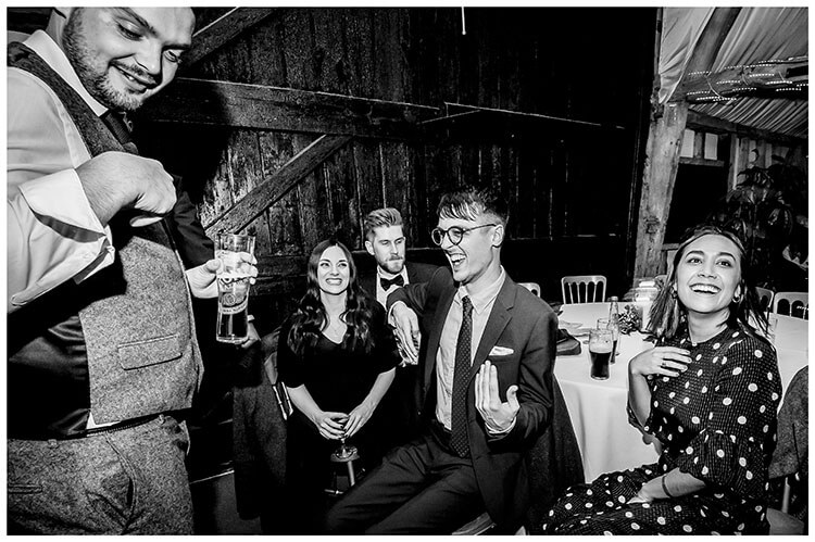 Air guitar practice South Farm wedding reception favourite wedding photography 2018