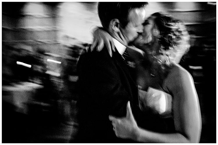 favourite wedding photography 2018 bride groom embrace and kiss as they dance